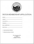 PATOS Membership Application